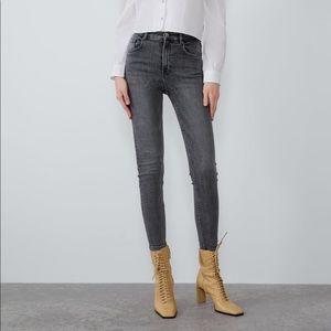 Zara Vintage Hi Rise Skinny Jeans